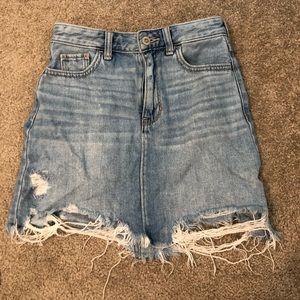 Hollister Jean skirt!